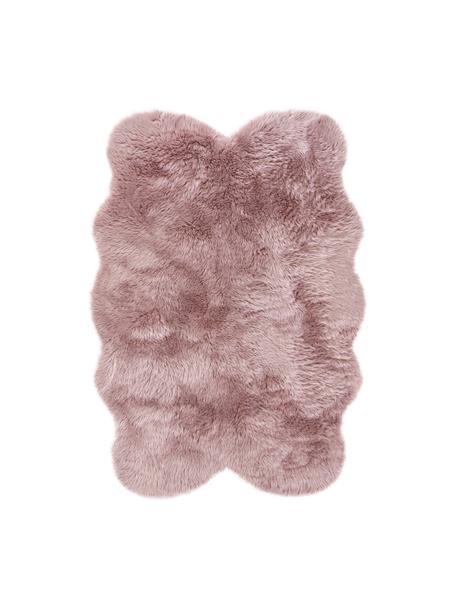 Flauschiger Kunstfell-Teppich Elmo in Rosa, glatt, Flor: 50% Acryl, 50% Polyester, Rosa, B 140 x L 200 cm (Größe S)