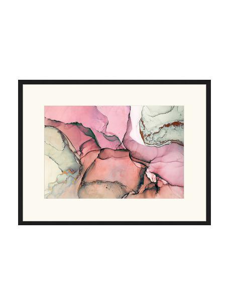Oprawiony druk cyfrowy Abstract Art I, Wielobarwny, S 83 x W 63 cm