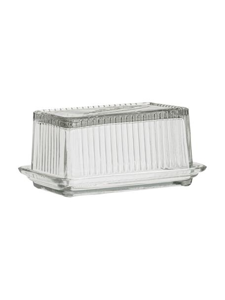 Maselniczka z recyklingowego szkła Navina, Szkło recyklingowe, Transparentny, S 17 x W 8 cm