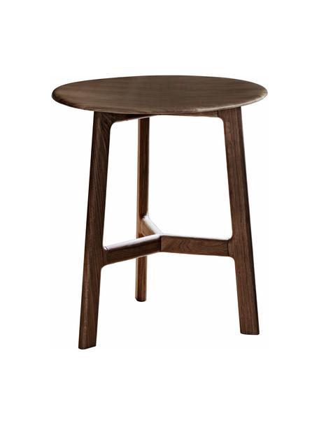 Okrągły stolik pomocniczy z drewna orzecha włoskiego Madrid, Drewno orzechowe, Drewno orzecha włoskiego, Ø 50 x W 58 cm