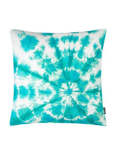 Kissenhülle Barbados mit Batik Print in Türkis, 100% Baumwolle, Türkis, 50 x 50 cm