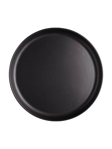 Platos llanos Nordic Kitchen, 4uds., Gres, Negro, mate, Ø 25 cm