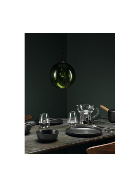 Dinerborden Nordic Kitchen, 4 stuks, Keramiek, Mat zwart, Ø 25 cm