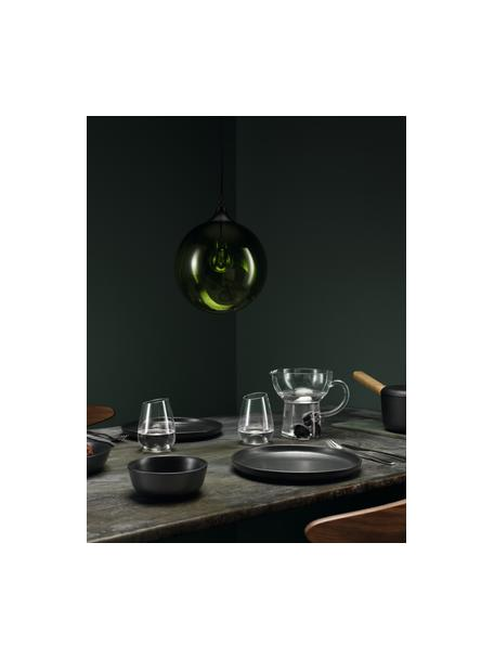 Piatto piano nero opaco Nordic Kitchen 4 pz, Gres, Nero opaco, Ø 25 cm