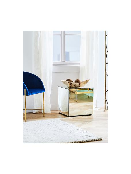Stolik pomocniczy z lustrzaną powierzchnią Luxury, Korpus: płyta pilśniowa średniej , Szkło lustrzane, S 45 x G 45 cm