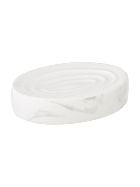 Keramik-Seifenschale Daro, Keramik, Weiß, 13 x 3 cm