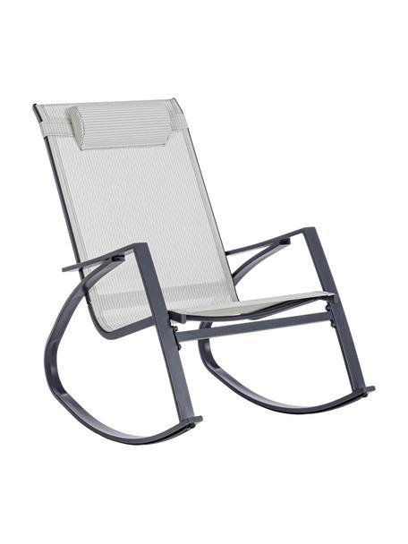 Fotel bujany z regulowanym zagłówkiem Demid, Stelaż: stal fosforanowana i malo, Tapicerka: tekstylia, Antracytowy, S 95 x G 61 cm