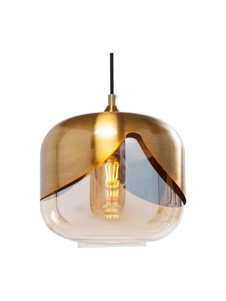 Lámpara de techo pequeña de vidrio Golden Goblet, Anclaje: metal, latón, Cable: plástico, Latón, Ø 25  cm