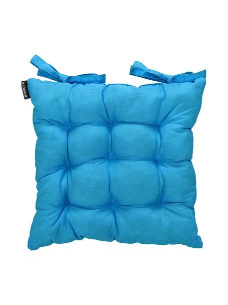 Cojín de asiento Panamá, Tapizado: 50%algodón, 45%poliéste, Turquesa, An 45 x L 45 cm
