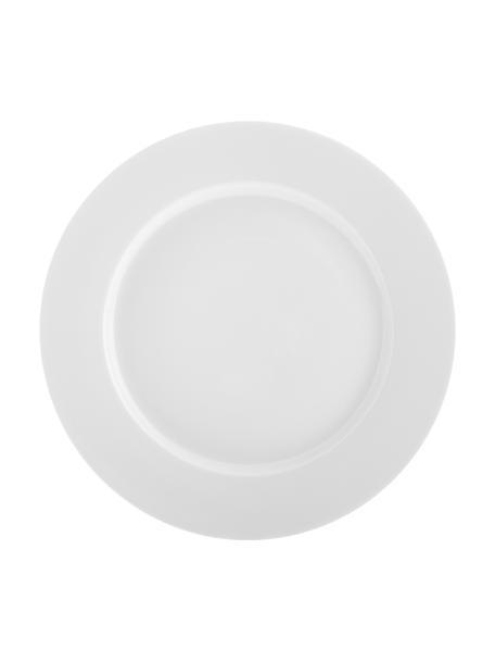 Porzellan-Frühstücksteller Delight Classic in Weiss, 2 Stück, Porzellan, Weiss, Ø 23 cm