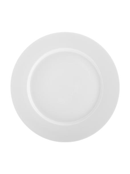 Talerz śniadaniowy z porcelany Delight Classic, 2 szt., Porcelana, Biały, Ø 23 cm