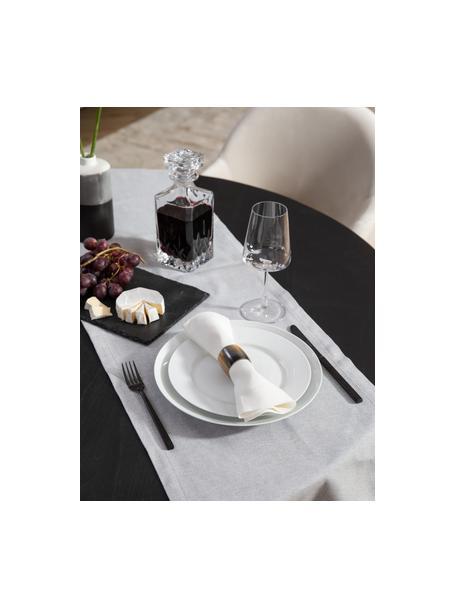 Set van 2 porseleinen ontbijtborden Delight Classic, Porselein, Wit, Ø 23 cm