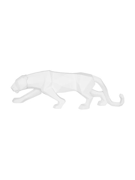 Deko-Objekt Origami Panther, Kunststoff, Weiß, 48 x 15 cm