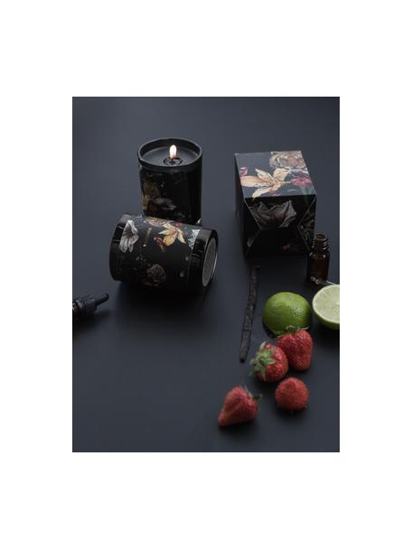 Geurkaarsen-set Wilderness (ananas & passievrucht, grapefruit & mango), 2-delig, Houder: glas, Zwart, groentinten, grijstinten, Ø 6 x H 7 cm