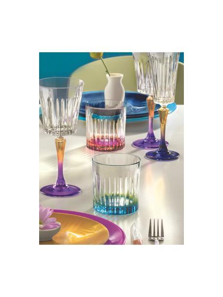 Vasos old fashioned de cristal Luxion Gipsy, 6uds., Cristal Luxion, Transparente, bronceado, rosa, Ø 8 x Al 9 cm
