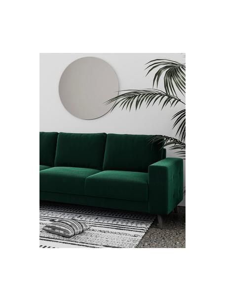 Sofa Fynn (3-osobowa), Tapicerka: 100% poliester z uczuciem, Stelaż: drewno liściaste, drewno , Nogi: drewno lakierowane Dzięki, Ciemny zielony, S 233 x G 86 cm