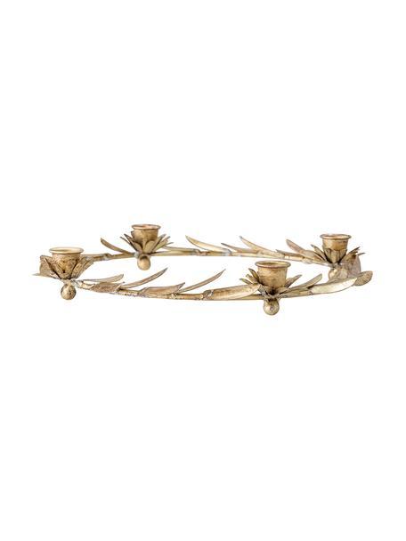 Świecznik Pippa, Metal powlekany, Odcienie mosiądzu, Ø 30 x W 5 cm