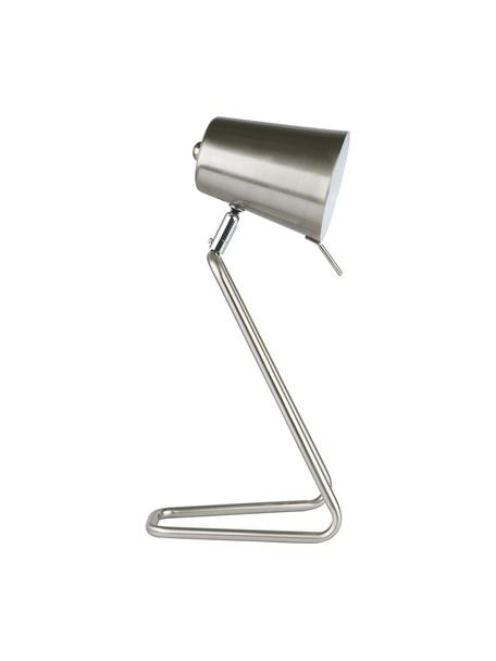 Lampada da comodino in argento Zeta, Paralume: metallo, Base della lampada: metallo, Argentato, Larg. 16 x Alt. 35 cm