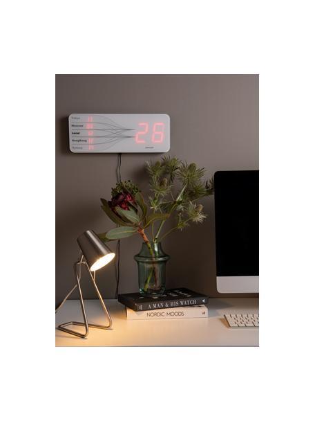 Lámpara de escritorio Zet, Pantalla: metal, Cable: plástico, Plateado, An 16 x Al 35 cm