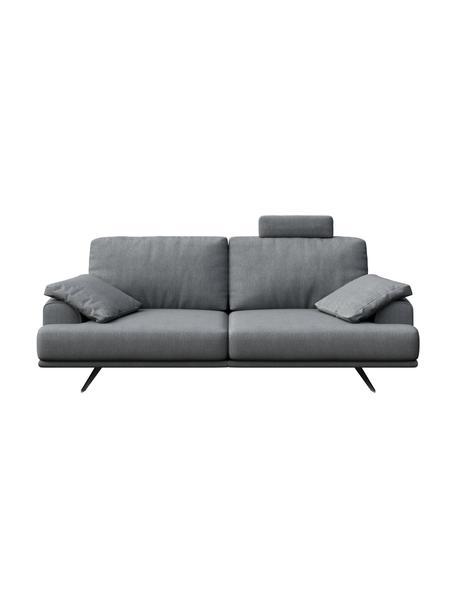 Sofa Prado (2-osobowa), Tapicerka: 100% poliester, Nogi: metal lakierowany, Jasny szary, S 220 x G 107 cm