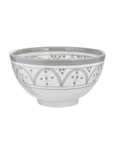 Ciotola marocchina fatta a mano con bordo dorato Moyen, Ø 15 cm, Ceramica, Grigio chiaro, color crema, oro, Ø 15 x Alt. 9 cm