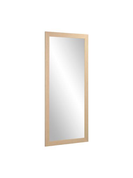 Anlehnspiegel Yvaine mit Holzrahmen, Rahmen: Holz, Spiegelfläche: Spiegelglas, Beige, 81 x 181 cm