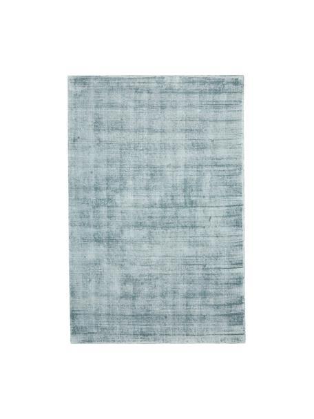 Handgewebter Viskoseteppich Jane in Eisblau, Flor: 100% Viskose, Eisblau, B 120 x L 180 cm (Größe S)