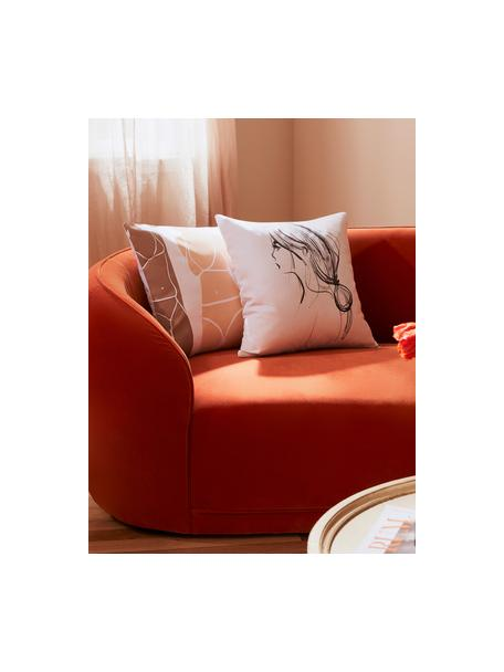 Federa arredo di Kera Till Ponytail, 100% cotone, Bianco, nero, Larg. 40 x Lung. 40 cm