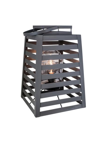 Lampada da terra con spina Yankton, Lampada: metallo verniciato a polv, Grigio, Larg. 30 x Alt. 60 cm