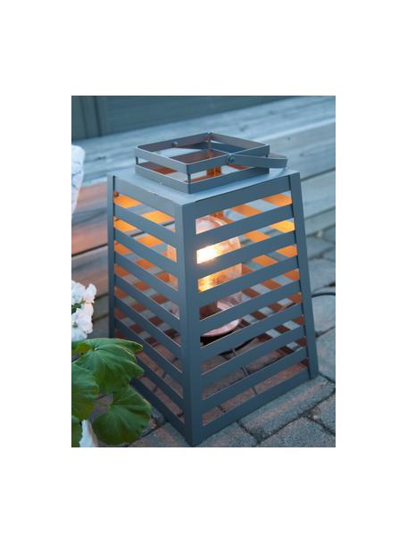 Vloerlamp Yankton met stekker, Lamp: gepoedercoat metaal, Diffuser: glas, Grijs, 30 x 60 cm
