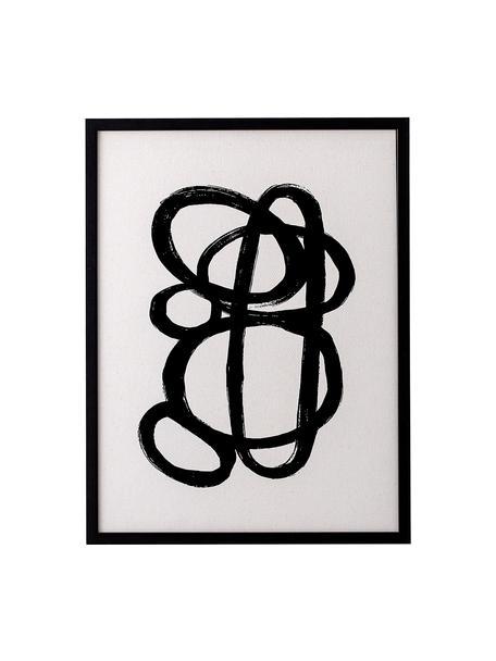 Stampa digitale incorniciata Doris, Cornice: legno di pino, Immagine: stampa digitale su carta, Nero, Larg. 32 x Alt. 42 cm