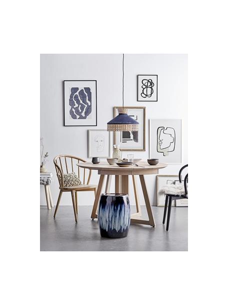 Ingelijste digitale print Doris, Lijst: grenenhout, Afbeelding: digitale afdruk op papier, Zwart, 32 x 42 cm