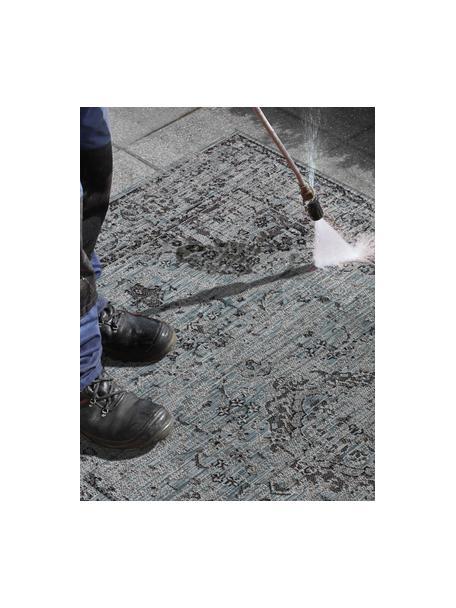 In- & Outdoor-Teppich Cenon im Vintagelook, 100% Polypropylen, Blautöne, B 80 x L 150 cm (Größe XS)