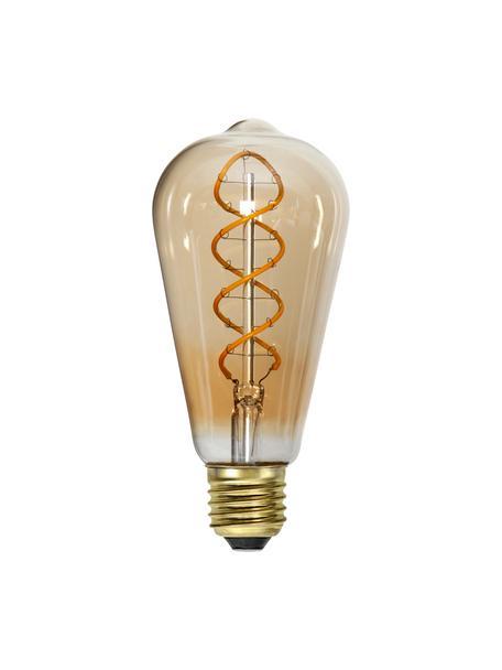 Lampadina E27, 3,5W, dimmerabile, bianco caldo 1 pz, Lampadina: vetro, Ambra trasparente, Ø 6 x Alt. 14 cm
