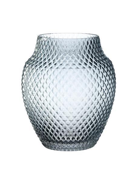 Ręcznie wykonany wazon ze szkła Poesia, Szkło, Niebieski, Ø 19 x W 23 cm
