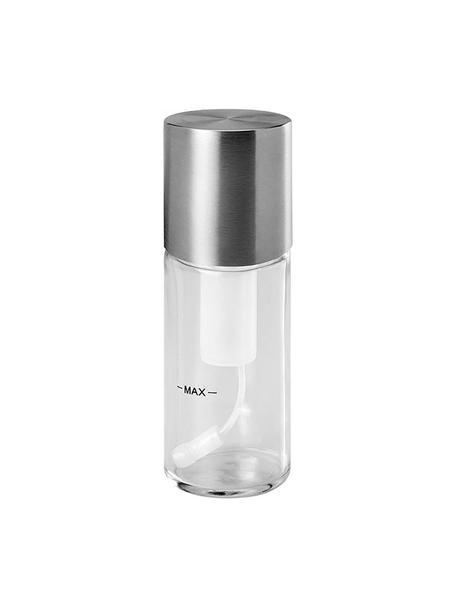 Spray de aceite y vinagre Bruno, Vidrio, acero inoxidable, Plateado, transparente, Ø 5 x Al 16 cm