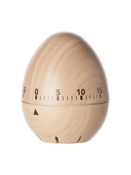 Timer do jajek Ernesto, Tworzywo sztuczne, Beżowy, czarny, Ø 6 x W 8 cm
