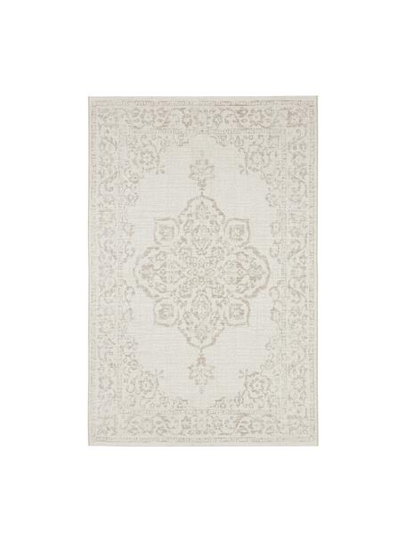 Alfombra de interior/exterior Tilos, estilo vintage, 100%polipropileno, Crema, beige, An 160 x L 230 cm (Tamaño M)