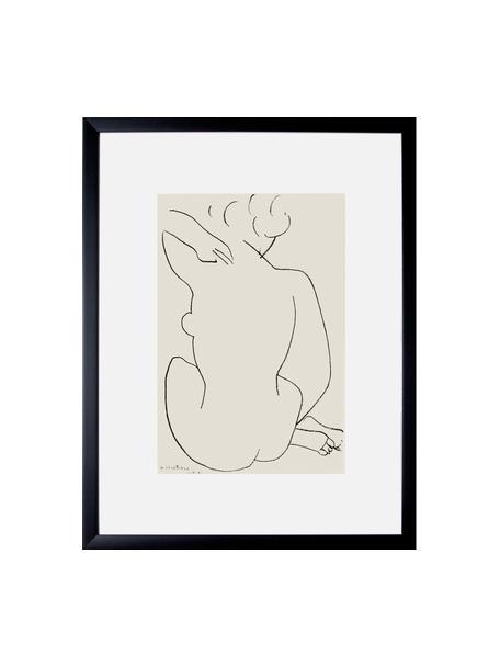 Oprawiony druk cyfrowy Matisse: Nu Accroupi, Stelaż: tworzywo sztuczne, szklan, Wielobarwny, S 43 x W 60 cm