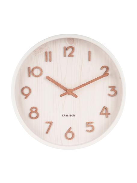 Zegar ścienny Pure, Biały, Ø 22 x G 5 cm