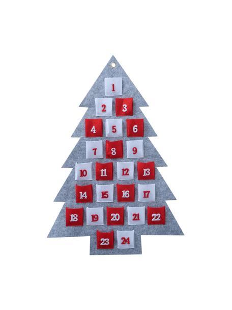 Adventskalender Vivet, Vilt, Grijs, rood, wit, 47 x 70 cm