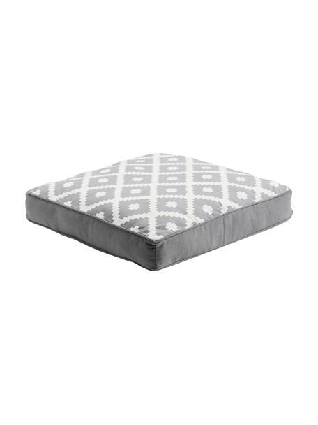 Cojín de asiento Maya, Funda: 100%algodón, Gris claro, crema, An 40 x L 40 cm