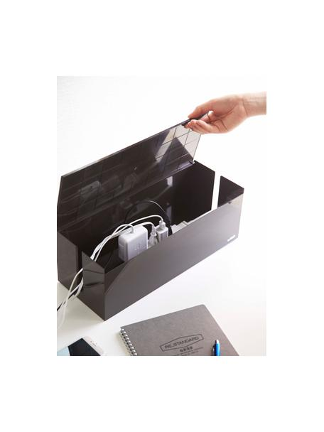 Kabel-Box Web, Kunststoff (Polycarbonat), Polyresin, Braun, 40 x 15 cm