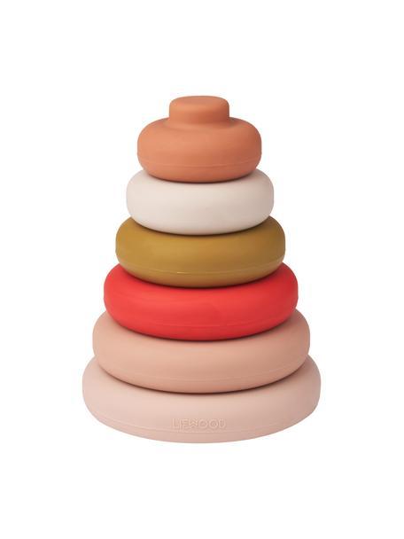 Giocattolo impilabile Dag 7 pz, 100% silicone, Rosa, multicolore, Ø 10 x Alt. 13 cm
