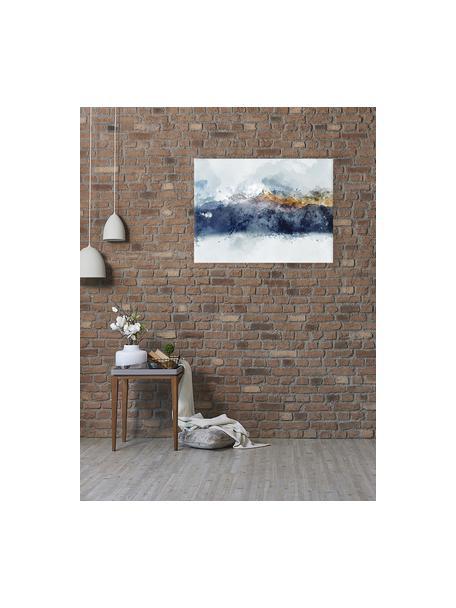 Stampa su tela Abstract Mountain, Immagine: stampa digitale su lino, Multicolore, Larg. 80 x Alt. 60 cm