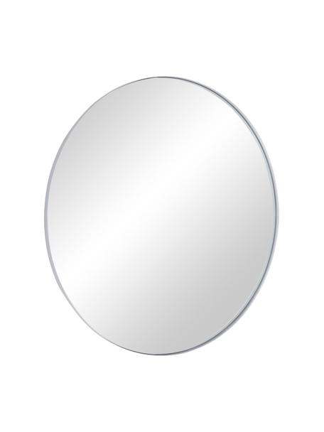Espejo de pared redondo Ivy, Estructura: metal con pintura en polv, Espejo: cristal, Parte trasera: tablero de fibras de dens, Blanco, Ø 100 cm