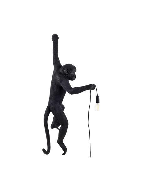 Design Aussenwandleuchte Monkey mit Stecker, Leuchte: Kunstharz, Schwarz, 37 x 77 cm