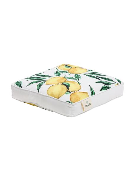Cojín de asiento alto Citrus, Funda: 100%algodón, Amarillo, verde, blanco, An 40 x L 40 cm