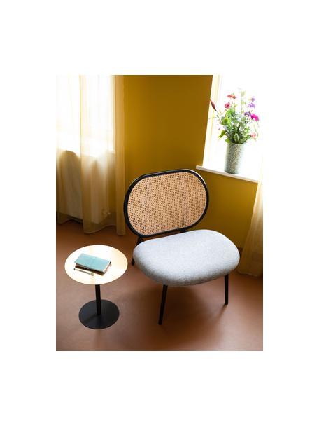 Sedia a poltrona con intreccio viennese Spike, Rivestimento: poliestere 100.000 cicli , Gambe: metallo verniciato a polv, Beige, grigio, Larg. 79 x Prof. 70 cm