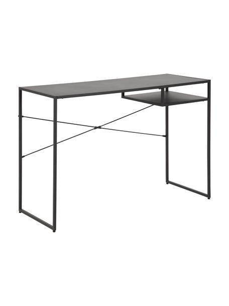 Metall-Schreibtisch Neptun in Schwarz, Metall, pulverbeschichtet, schwarz, B 110 x T 45 cm